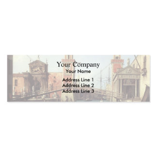 Canaletto- View of the Entrance to the Arsenal Business Card