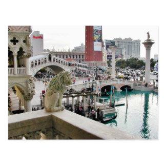 Canals Gondolas Bridges Las Vegas Post Cards