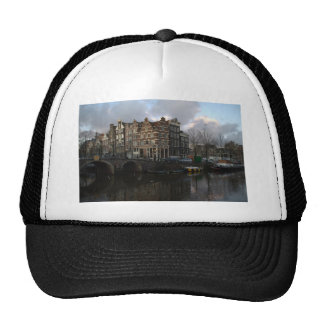 Canals in Amsterdam Mesh Hats