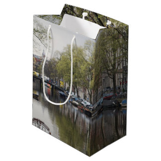 Canals in Amsterdam, Holland Medium Gift Bag