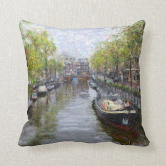 Canals of Amsterdam Pillow