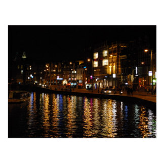 Canals of Amsterdam Postcard