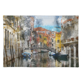 Canals of Venice Italy Watercolor Placemat