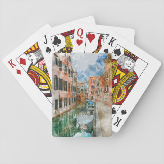 Canals of Venice Italy Watercolor Playing Cards