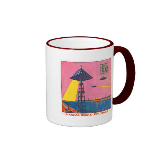 Canals on Mars Ringer Coffee Mug