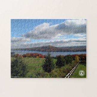 Canandaigua Lake in Autumn Jigsaw Puzzle