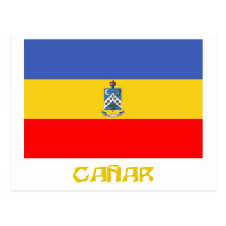 Cañar flag with Name Postcard