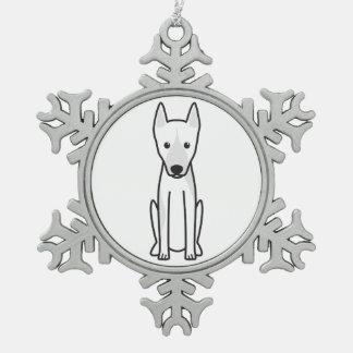Canarian Warren Hound Dog Cartoon Snowflake Pewter Christmas Ornament