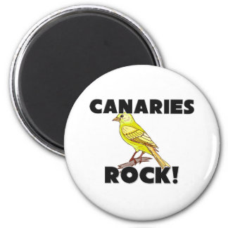 Canaries Rock Refrigerator Magnets