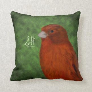 Canario rojo almohada