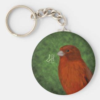 Canario rojo llavero redondo tipo pin