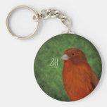 Canario rojo llaveros personalizados