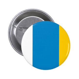 Canario, Ucrania Pin Redondo De 2 Pulgadas