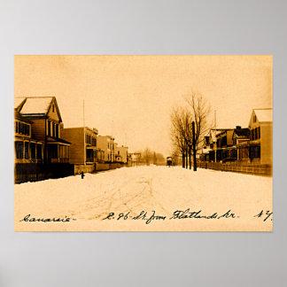 Canarsie Brooklyn New York City Flatlands Ave 1910 Poster