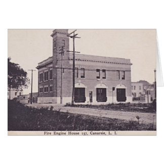 Canarsie Brooklyn New York Fire Engine House 1910 Card