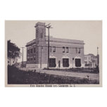 Canarsie Brooklyn New York Fire Engine House 1910 Print