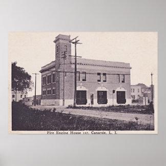Canarsie Brooklyn New York Fire Engine House 1910 Poster
