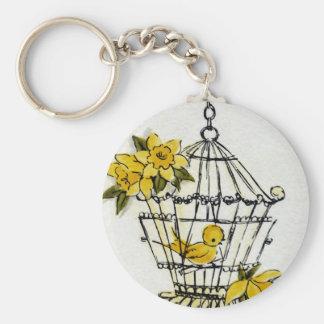 Canary and Dafodills Keychain