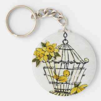Canary and Dafodills Keychains
