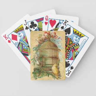 Canary Bird Cage Victorian Bicycle Playing Cards