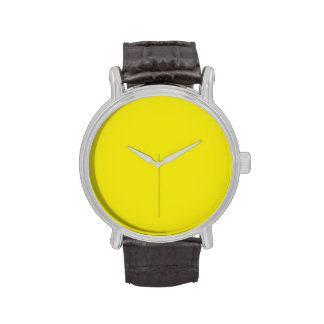 Canary Bright Yellow Color Trend Blank Template Watches
