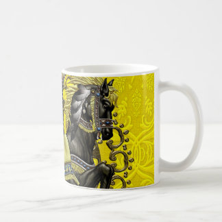 Canary Damask Coffee Mug
