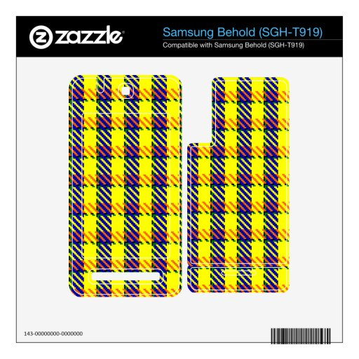 Canary Gold Tartan Samsung Behold Skins