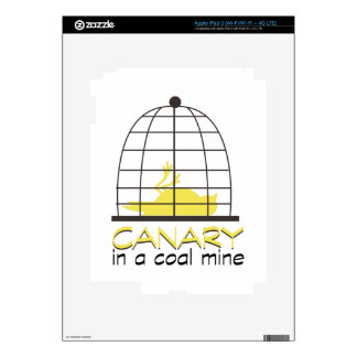Canary In A Coal Mine Decals For iPad 3