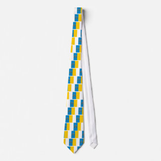 canary island flags neck tie