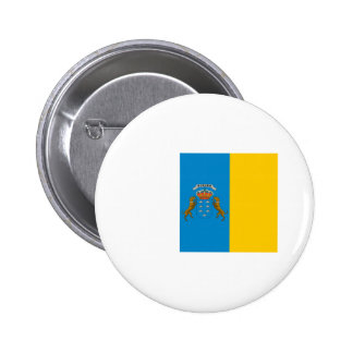 canary island flags pinback button