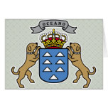Canary Islands Coat of Arms detail Greeting Card