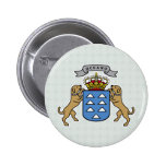 Canary Islands Coat of Arms detail Pinback Button