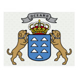 Canary Islands Coat of Arms detail Postcard