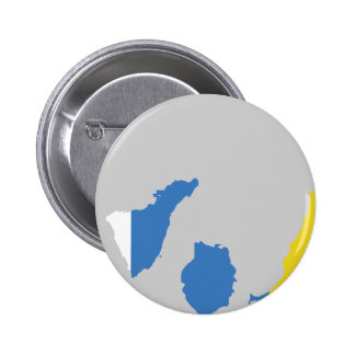 Canary Islands flag map Pinback Button