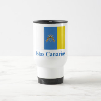 Canary Islands Flag with Name in Spanish Mugs