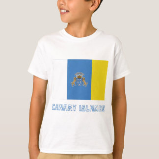 Canary Islands Flag with Name T-Shirt
