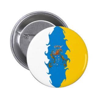 Canary Islands Gnarly Flag Pinback Button