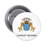 Canary Islands High Quality Coat of Arms Pinback Button