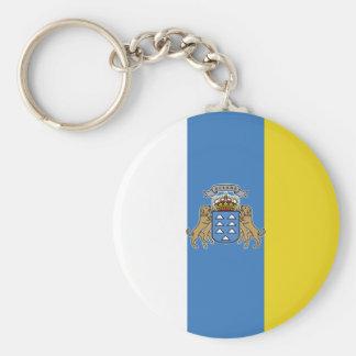 Canary Islands High quality Flag Keychain