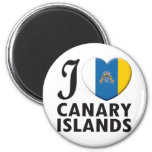 Canary Islands Love 2 Inch Round Magnet