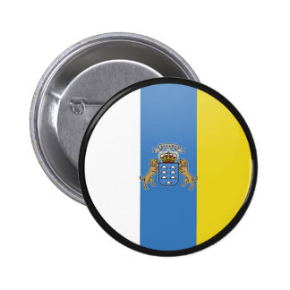 Canary Islands quality Flag Circle Pinback Button