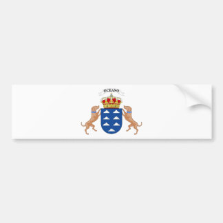 Canary Islands (Spain) Coat of Arms Bumper Sticker