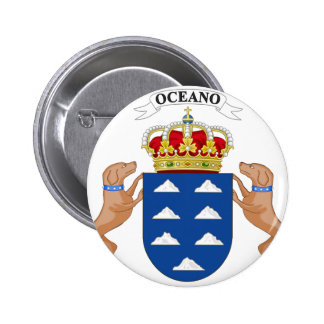Canary Islands (Spain) Coat of Arms Pinback Button