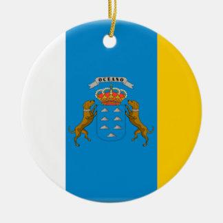 Canary Islands (Spain) Flag Ceramic Ornament