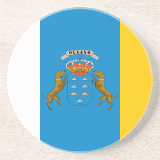 Canary Islands Spain Flag Drink Coasters