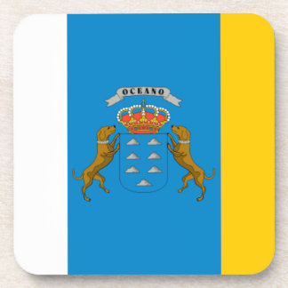 Canary Islands Spain Flag Beverage Coaster