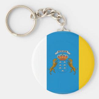 Canary Islands (Spain) Flag Keychain