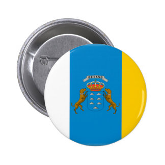 Canary Islands (Spain) Flag Pinback Button
