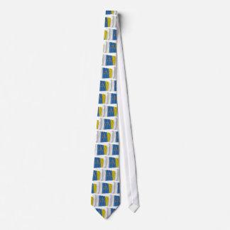 Canary Islands Waving Flag Neck Tie