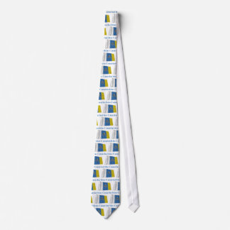 Canary Islands Waving Flag with Name in Spanish Neck Tie